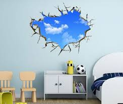 Blue Sky 3D Wall Decal Would You Like To Wake Up The Enthralling Of Beautiful Limitless Here Is A Design Simply Cannot Resist