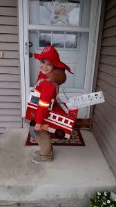 Homemade Halloween Costume. Fireman Costume. Firetruck Made Out Of A ...