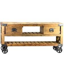 Industrial Tv Stand French Rustic Style Plasma Wood