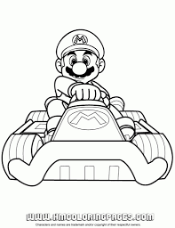 Free Printable Mario Kart Coloring Pages H Amp M Inside
