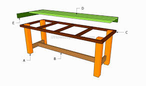 outdoor table building plans 15 home decoration