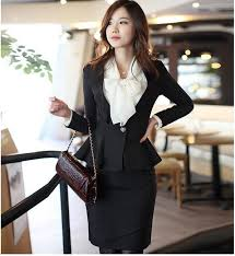 Fashion Women Suits With Overskirt Professional Womens Slim Formal