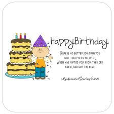 Animated Happy Birthday Son Card