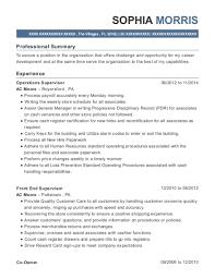 Ups Mi Operations Supervisor Resume Sample