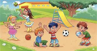 Kids Playing On Playground Clip Art