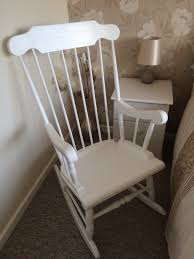 White Rocking Chair | In Cramlington, Northumberland | Gumtree Windsor Arrow Back Country Style Rocking Chair Antique Gustav Stickley Spindled F368 Mid 19th Century Spindle Eskdale Chairs Susan Stuart David Jones Northeast Auctions 818 Lot 783 Est 23000 Sold 2280 Rare Set Of 10 Ljg High Chairs W903 Best Home Furnishings Jive C8207 Gliding Rocker Cushion Set For Ercol Model 315 Seat Base And Calabash Wood No 467srta Birchard Hayes Company Inc