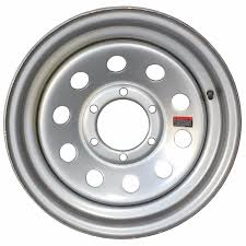 16'' Silver Modular Trailer Wheel 6 Hole 6×5.5 Chevy Truck Bolt With ...