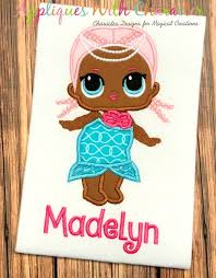 LOL Doll Mermaid Applique Design by Appliques With Character