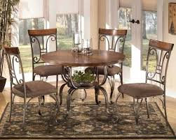 round metal dining room table furniture and chairs wood with legs