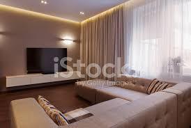 interieur aus einem modernen wohnzimmer in luxus villa