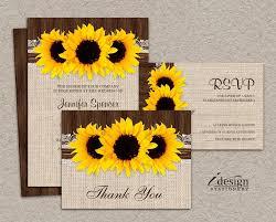Sunflower Wedding Invitations Kits