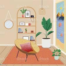 skandinavisches interieur im stil hyggefashionable interieur ist stilvoll komfortables wohnzimmer möbel dekoration liegestühle mit kissen