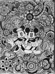 Mickey And Minnie Floral Design By Byjamierose On Etsy Disney Coloring PagesAdult PagesColoring BooksColoring