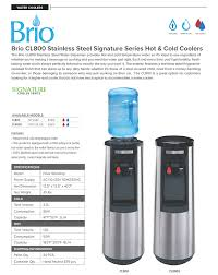 Tomlinson Faucets Stainless Steel by Brio Cl800u Bottleless Pou U0026 Cold Stainless Steel Water