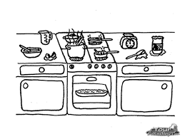 Coloring Page Kitchen Room Buildings And Architecture 13