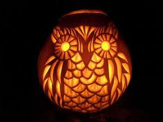 Owl Pumpkin Template by Owl Gourd Lamp Gourd Lamp Carving Designs And Halloween Party Decor