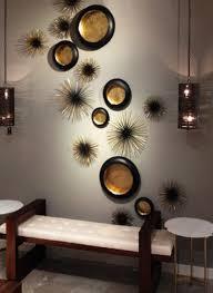 dekoideen wohnzimmer mit wand teelichthalter in schwarz und