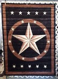 6X8 3X4 Black Texas Star Country Western Rustic Lodge Cabin Area Rugs Carpets