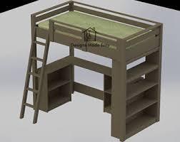 loft bed plans etsy