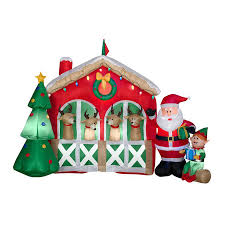 Grinch Blow Up Yard Decoration by Shop Christmas Inflatables At Lowes Com