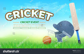 Horizontal Vector Cricket Poster Event Info Postcard Design And Sports Ad Web Banner Or Card Template