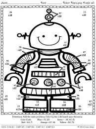 Robot Regrouping Addition Math Printables Color By The Code Puzzles This Unit Is Aligned To CCSS Each Page Has Specific Listed