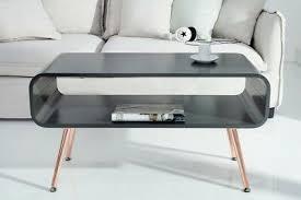 design retro couchtisch lounger 90cm grau kupfer tv board