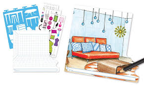 Amazon Fashion Angels Interior Design Sketch Portfolio Toys Games