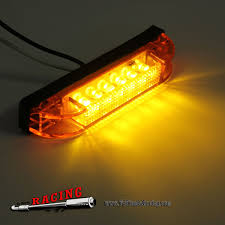 6 LED Clearance Side Marker Light Indicator Lamp - TuTiendaRacing Mengs 1pair 05w Waterproof Led Side Marker Light For Most Buses Universal Surface Mount For Truck Amberred 2018 4x Led Fender Bed Lights Smoked Lens Amber Redfor 130 Boreman V 112 13032018 American 2pcs 6 Clearance Indicator Lamp Trailer 4pack X 2 Peaktow Round Submersible United Pacific Industries Commercial Truck Division 1ea Of An Arrow B52 55101 Amber Marker Lights Parts World 4 X 8led Side Marker Lights Clearance Lamp Red Amber Trailer Best Quality 5x Teardrop Style Cab Roof 2pcs Yellowred Car