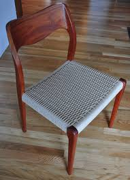 Re Caning Chairs London by Replacing Cord On Danish Side Chairs