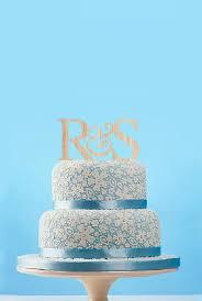 Monogram Wedding Cake Toppers Custom Couple Name Topper Rustic Initial