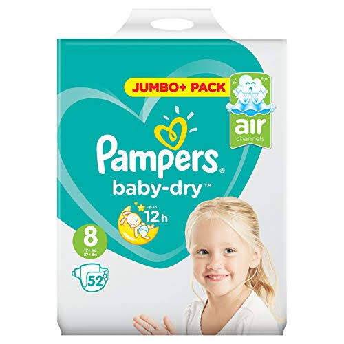 Pampers Baby-Dry Size 8 Nappies Jumbo+ Pack