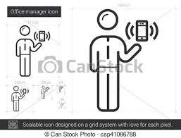icon bureau directeur ligne icon bureau site web bureau vecteur