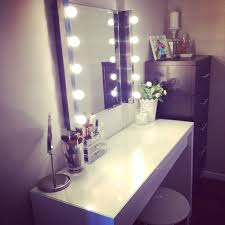Makeup Vanity Table With Lights Ikea by Perky Stool And Ikea Malm Plus From Make Toger Together With Ikea