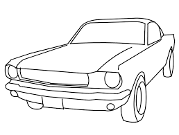 Vintage Ford Mustang Car Coloring Pages