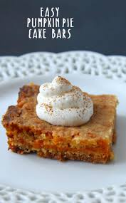 Easy Pumpkin Pie Cake Bars Recipe Scattered Thoughts of a Crafty