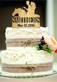 Country Wedding Cakes Cake Topper Rustic Decor Couple Monogram