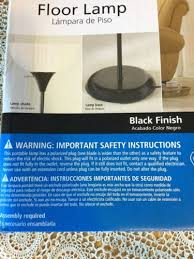 Mainstays Floor Lamp Assembly Instructions by Mainstays 3 Way Floor Lamp Black Finish 71 Inches What U0027s It Worth