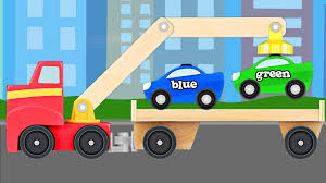 Big Rig Tow Truck Teaching Colors - Learning Colours Video For Kids ...