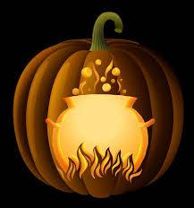 Walking Dead Pumpkin Template Free by Witch Cauldron Pumpkin Carving Stencil