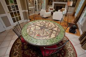 custom tile breakfast table eclectic dining room raleigh