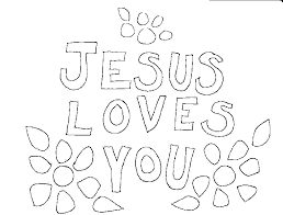 Trendy Jesus Loves Me Printable Coloring Pages Page