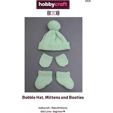FREE PATTERN Baby Brilliance Bobble Hat Mittens and Booties Barbie