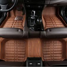 Volvo Xc90 Floor Mats Black by Car Styling 5d Full Cover Woodgrain Leather Car Floor Mats For