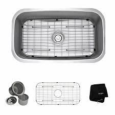 Premier Faucet Nsf 619 by Shop Kraus Premier Kitchen Sink 18 38 In X 31 5 In Single Basin