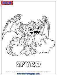 Skylanders Giants Magic Spyro Coloring Page