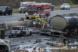 At Least Three People Dead Following Collision, Explosion On Highway ... 4 Injured After Semitruck And Greyhound Bus Crash Near Kettleman Best Truck Crashes 2015 2016 Driver Leaps To Safety As Train Into Inside Edition Tesla Owner Says Autopilot Saved Him From A Nearmiss With Video Semitruck Loses Control Crashes Gas Station In Cajon Caught On Video Driver Capes Semi Before Its Hit By Fatigue Contributing Factor Mondays Video Drowsy Driving Leads Fatal Truck At Nevada 3 Due Inattention Snarls Blaine Crossing Route 17 Crash Clip Shows Wreck It Happened Shocking Footage Of Minor Turned Major The 401