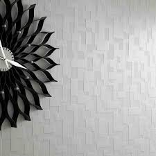 Metallic Tile Effect Wallpaper by Silver Checkers Give A Textured Look Wallpaper Metallic