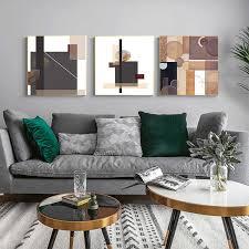 abstrakte braun geometrische leinwand malerei poster und drucken moderne wand kunst quadrat bilder für wohnzimmer schlafzimmer wohnkultur