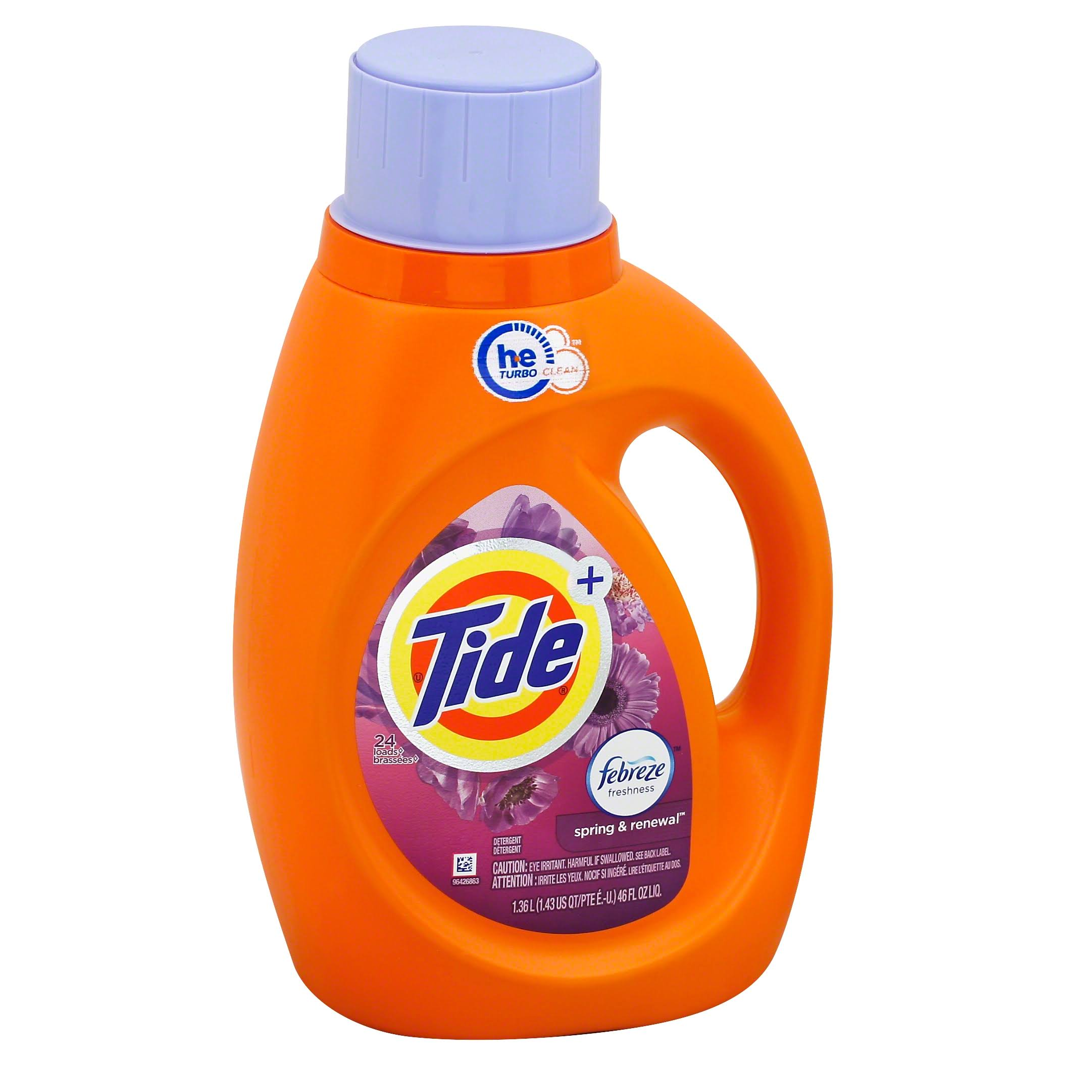 Tide HE Liquid Laundry Detergent - Spring and Renewal, 46oz